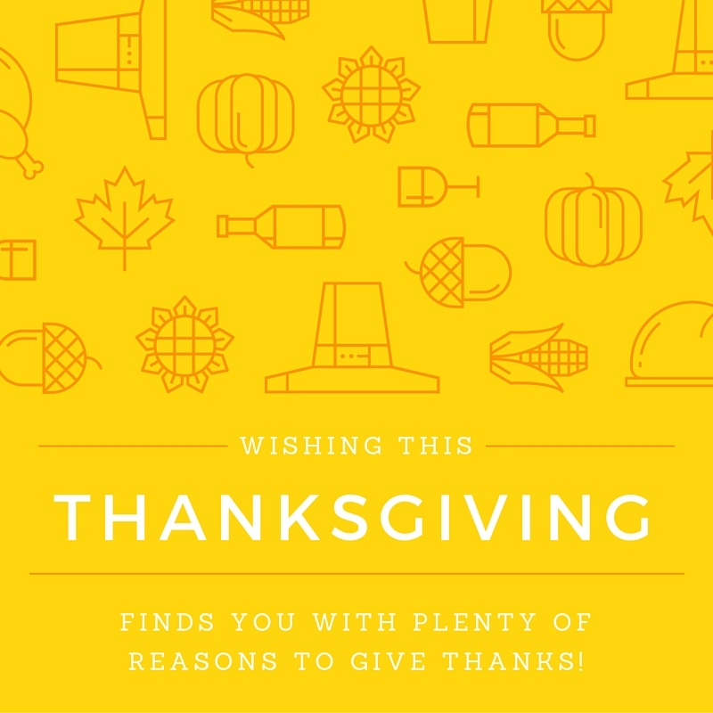 finds you with plenty of reasons to give thanks!